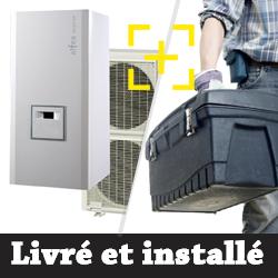 Pompe à chaleur air-eau Atlantic Alféa Excellia 14 Kw triphasé + installation