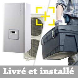 Pompe à chaleur air-eau Atlantic Alféa Excellia 16 Kw triphasé + installation