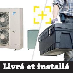 Pompe à chaleur Daikin 14 Kw haute température modèle grand froid triphasé + installation