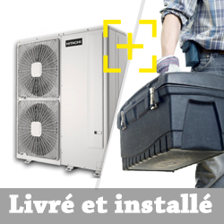 Pompe à chaleur Air Eau Hitachi YUTAKI S 4.0 triphasé chauffage seul + installation