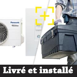 Pompe à chaleur Panasonic Aquarea SDF / SDC Bi-bloc haute performance petite puissance 3.2 Kw chauffage seul + installation