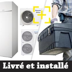 Pompe à chaleur Panasonic Aquarea ECS intégrée T-CAP 12 Kw triphasé + installation
