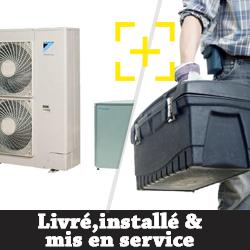 Pompe à chaleur Daikin 11 Kw haute température modèle grand froid monophasé+ installation + mise en service