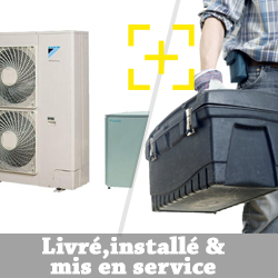 Pompe à chaleur Daikin 14 Kw haute température modèle grand froid triphasé + installation + mise en service