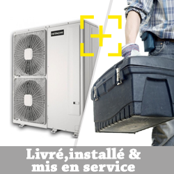 Pompe à chaleur Air Eau Hitachi YUTAKI S 4.0 chauffage seul + installation + mise en service