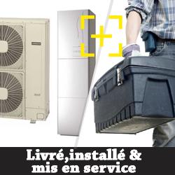 Pompe à chaleur Air Eau Hitachi YUTAKI S80 4.0 avec ECS 195 litres + installation + mise en service