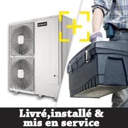 Pompe à chaleur Air Eau Hitachi YUTAKI S 4.0 triphasé chauffage seul + installation + mise en service
