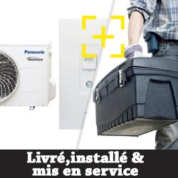 Pompe à chaleur Panasonic Aquarea SDF / SDC Bi-bloc haute performance petite puissance 3.2 Kw chauffage et refroidissement + installation + mise en service