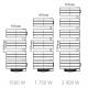 Dimensions sèche serviette Atlantic Nefertiti INTEGRAL 750W+ 1000W pivotant droit soufflant