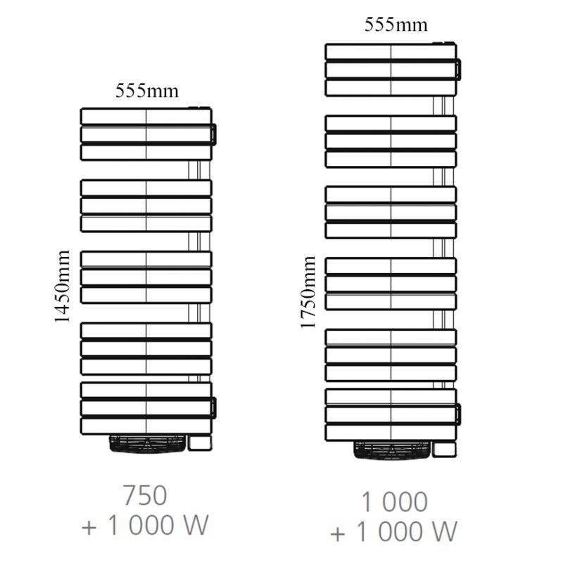 s che serviette atlantic nefertiti chauffage central 1000w. Black Bedroom Furniture Sets. Home Design Ideas