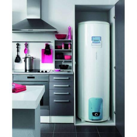 Chauffe-eau électrique 200 litres Vizengo Atlantic vertical sur socle