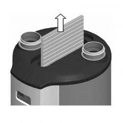 Filtre pour chauffe eau thermodynamique sur air extrait AERAULIX