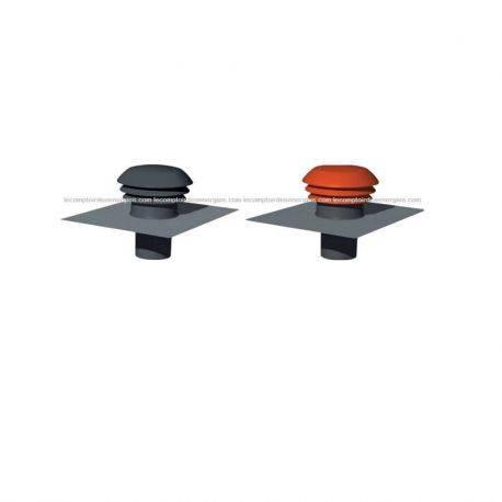 Chapeau de toiture métalliques Atlantic couleur tuile - Diamètre 160 mm Tuile