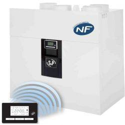 VMC double flux IDEO 325 Ecowatt radio + kit accessoires P08