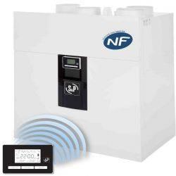 VMC double flux IDEO 325 Ecowatt radio + kit accessoires P04