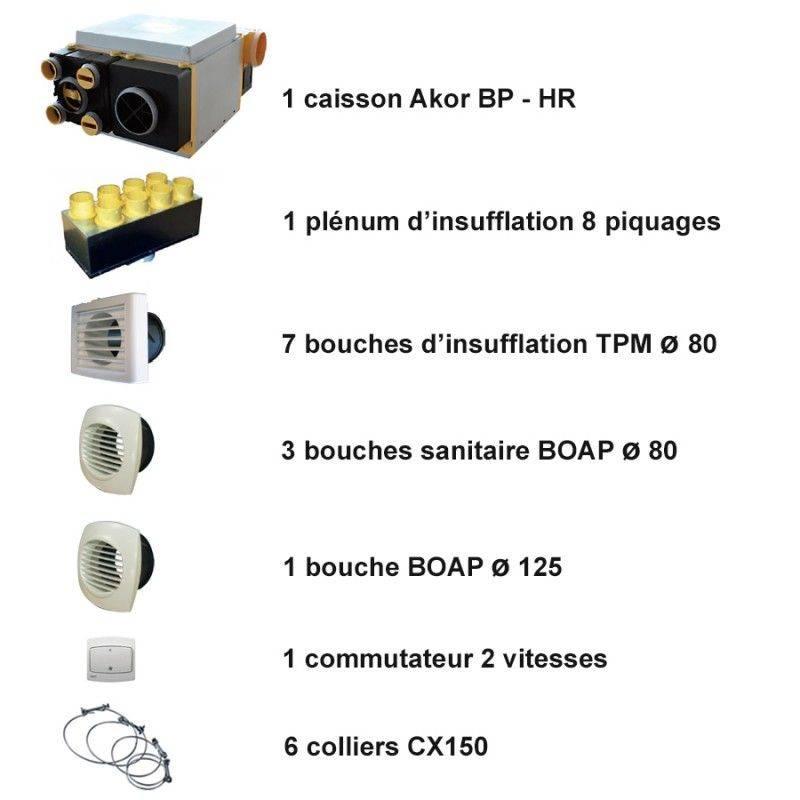 vmc double flux akor bp hr filaire kit accessoires. Black Bedroom Furniture Sets. Home Design Ideas