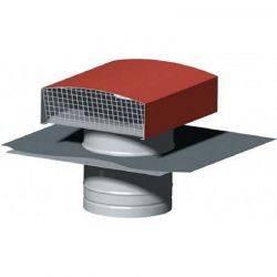 Chapeau de toiture métalliques Unelvent - Diamètre 150 mm Tuile