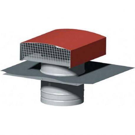 Chapeau de toiture métalliques Unelvent - Diamètre 150 mm Ardoise