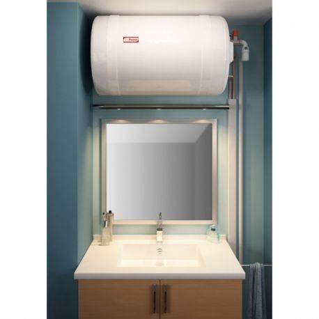 Chauffe-eau électrique 75 litres Thermor blindé horizontal mural raccordement côté