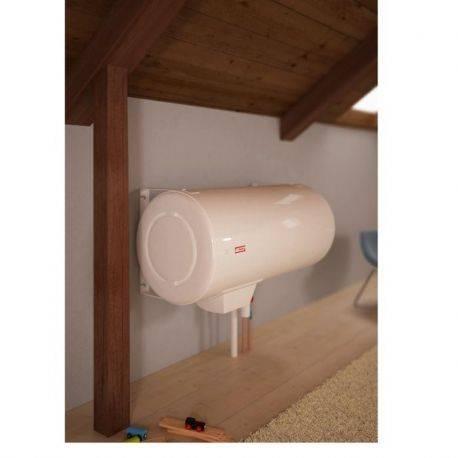 Chauffe-eau électrique 100 L Thermor blindé horizontal mural