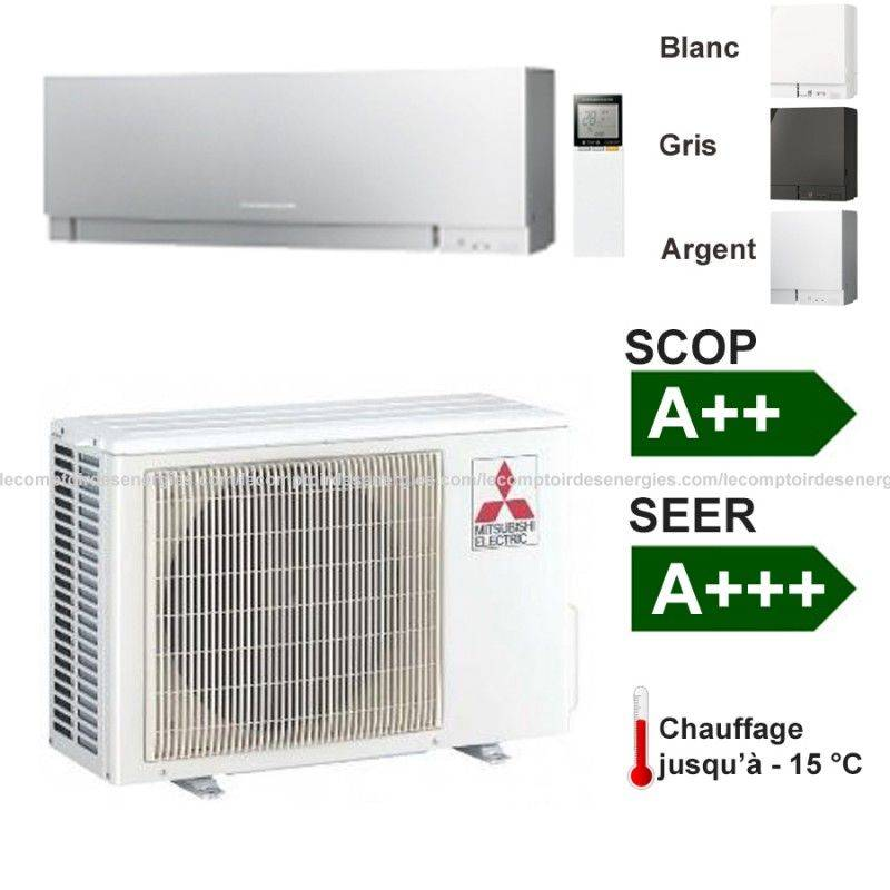 Climatiseur monosplit mitsubishi msz ef 4 kw for Installer un climatiseur split