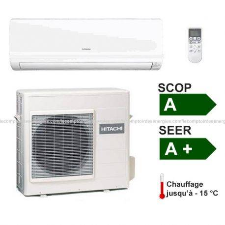 Climatiseur monosplit Hitachi Summit DC inverter 3.4 Kw