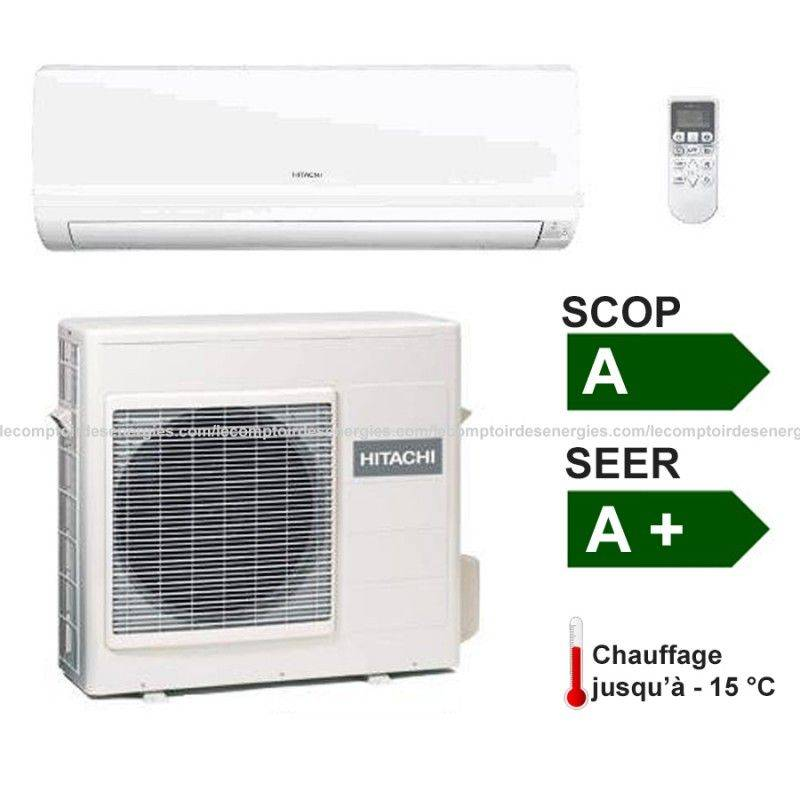 Climatiseur monosplit hitachi summit dc inverter 4 2 kw for Climatiseur inverter mural