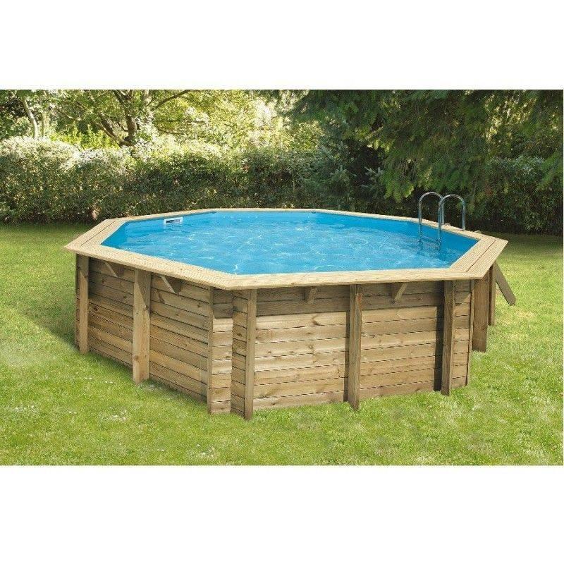 Piscine bois oc a 430 h120 cm ubbink liner beige for Liner pour piscine bois