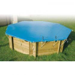 Bâche de sécurité 550 g pour piscine hors sol Ubbink 550 g, 400 cm x 610 cm