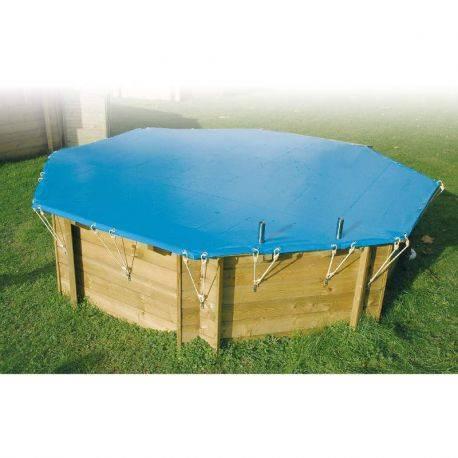 Bâche de sécurité 550 g pour piscine hors sol Ubbink 550 g, Diam 580 cm