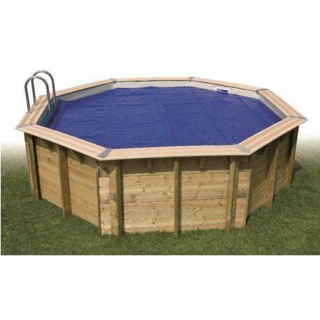 Bâche à bulles bordées pour piscine UBBINK Diam int: 350, ext: 410 cm