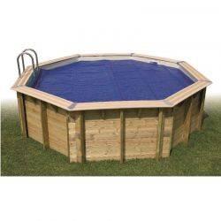 Bâche à bulles bordées pour piscine UBBINK Diam int: 350x560, ext: 400x610 cm