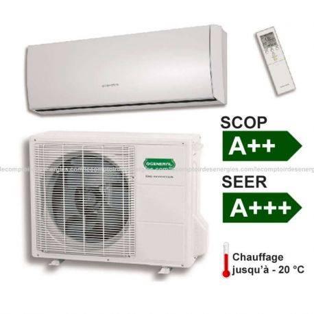 Climatiseur monosplit Fujitsu/Général 3.2 Kw SLIDE SENSOR