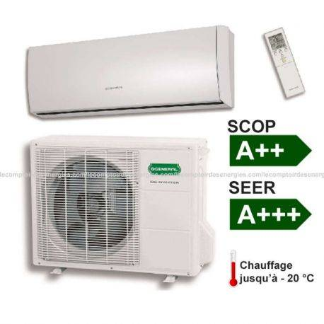 Climatiseur monosplit Fujitsu /Général 4 Kw SLIDE SENSOR