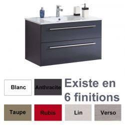 Meuble Cubix sous plan 60 cm + plan de vasque