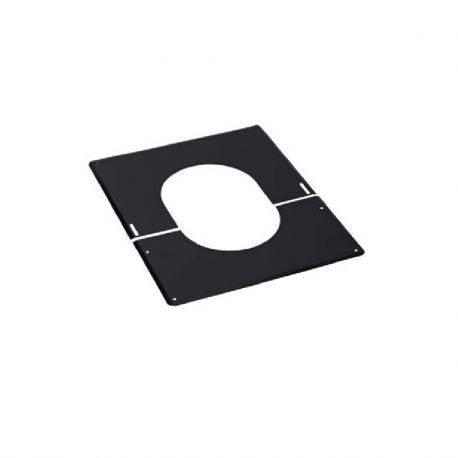 Plaque de finition noir 80/125 Bioten (pente plafond 30° à 45°)