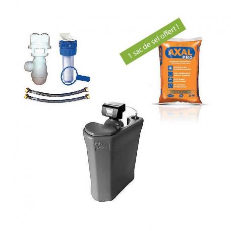 Pack Adoucisseur 20 L + Kit de raccordement + sac de sel
