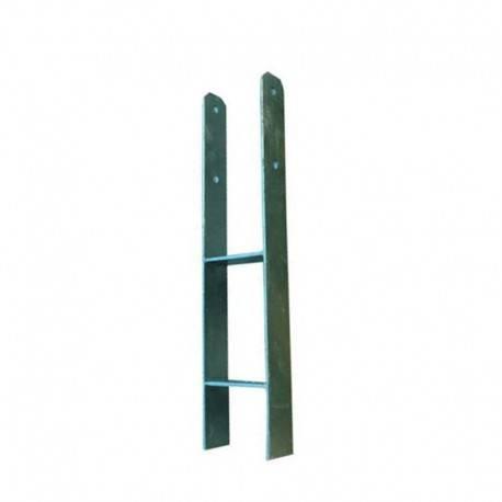 Ancrage en H pour carports avec poteaux 9 x 9 cm - Karibu