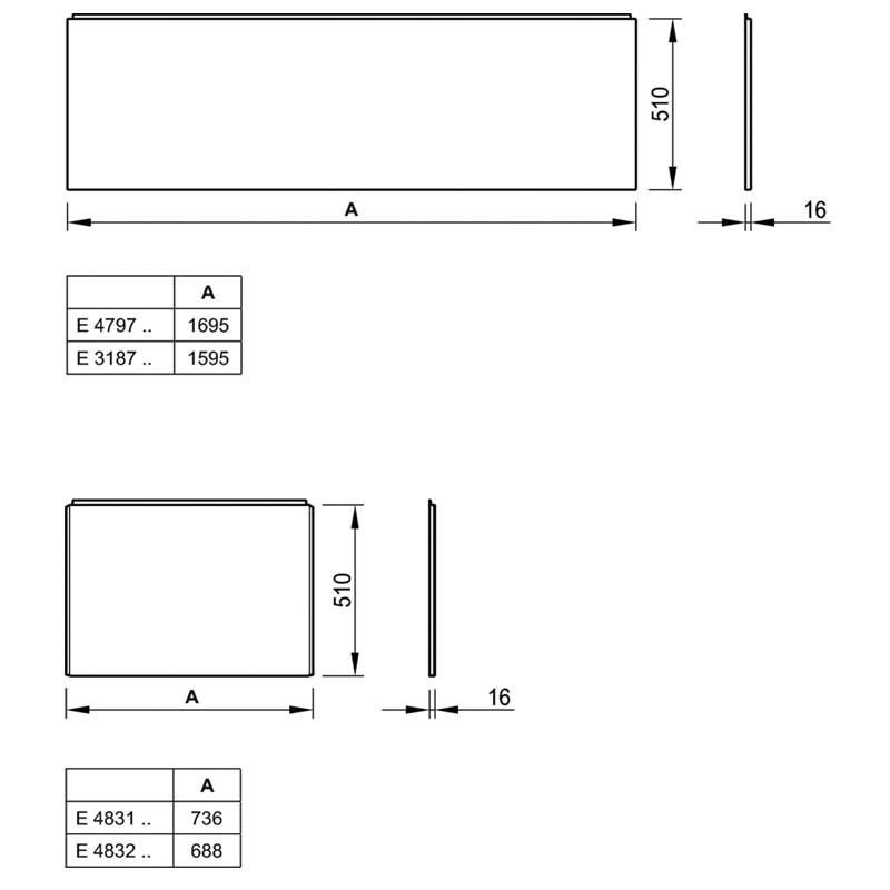 tablier frontal en acrylique pour baignoire ulysse. Black Bedroom Furniture Sets. Home Design Ideas