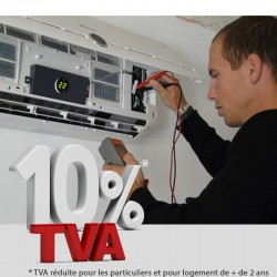 Installation + mise en service climatiseur type monosplit